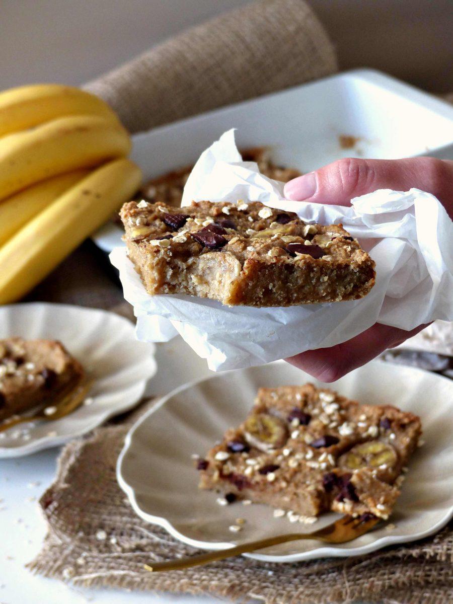 Banenbrot Rezept vegan Schoko reife Bananen verwerten Bananenkuchen GewusstVegan