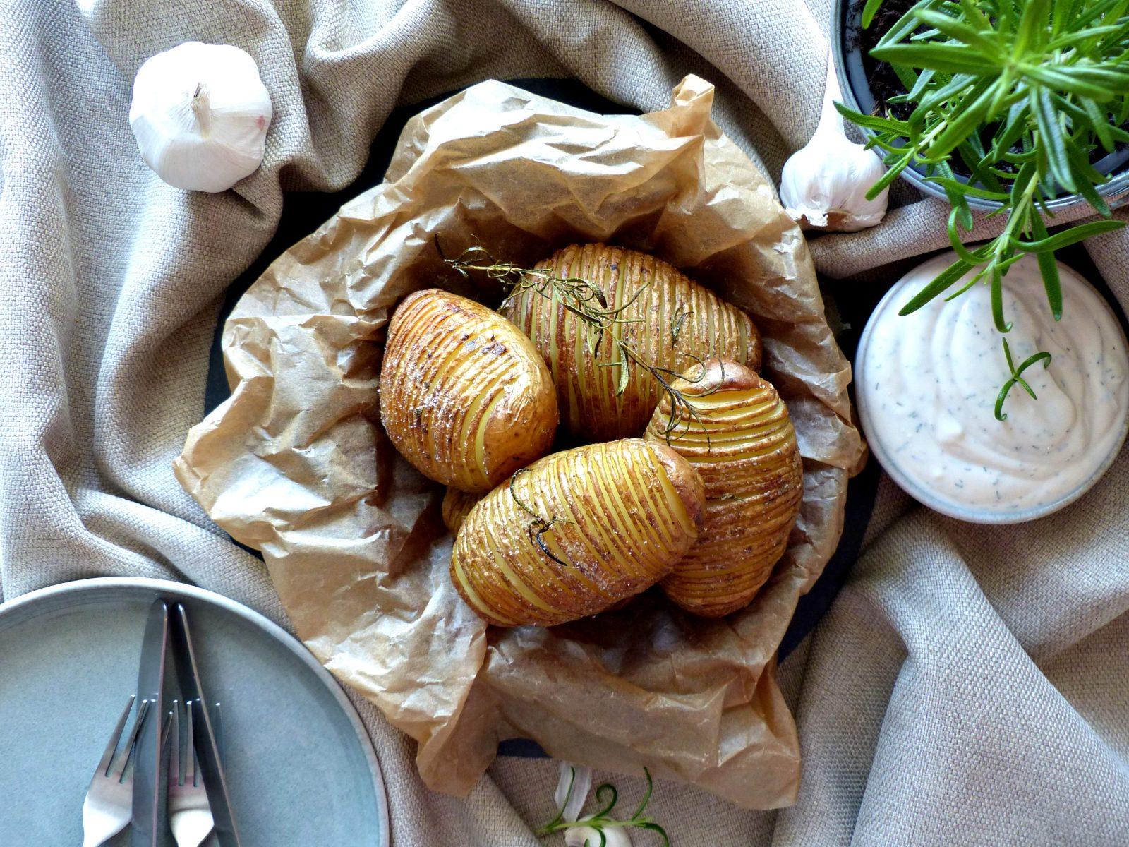 Fächerkartoffeln vegan Rezept Ofenkartoffeln